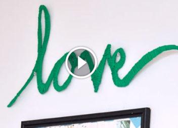 Video lezione: scritte alla moda fatte dai fili