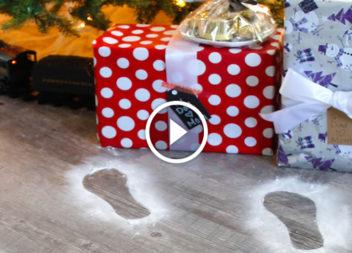 Impronte di Babbo Natale: crea una storia per bambini