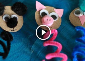 Casa di bambola: figure degli animali in 5 minuti!