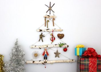 Albero di Natale alternativo: idea dai ramoscelli