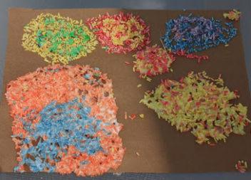 Idea per la creatività: riso colorato
