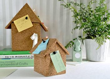 Casa organizer: idea di materiale di sughero