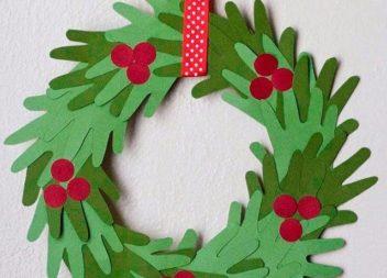 Ghirlanda di Natale di carta