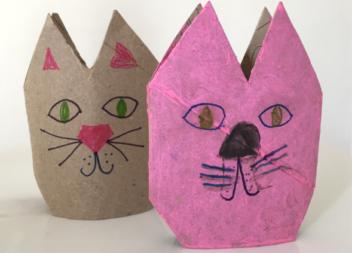 Gattino di carta: un'idea per i bambini