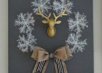 Decorazione Natalizia: corona di fiocchi di neve