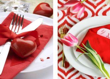 Cena romantica: 10 modi su decorazione tavola