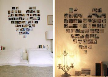 Un collage fotografico a forma di cuore: 10 idee