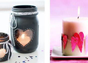 Candele e portacandele di San Valentino: 15 idee creative