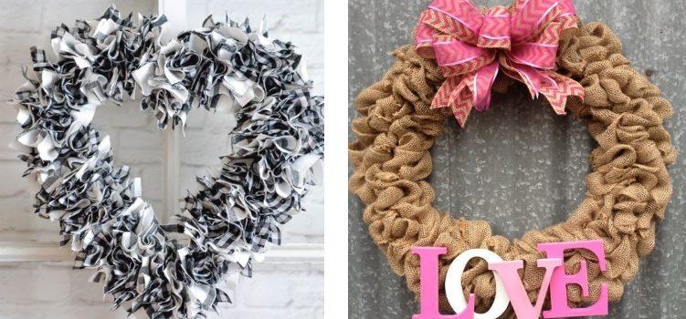 Corona sulla porta di San Valentino: 30 idee