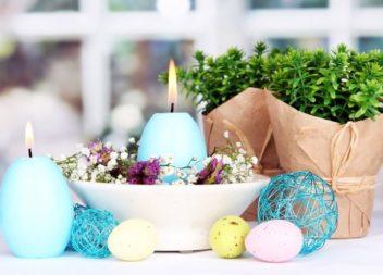 Candele pasquali a forma di uova. Master class