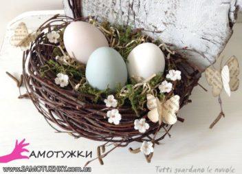 Composizione uovo-fiore per Pasqua. 27 idee