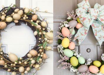 Corone di Pasqua fai da te.15 foto idee