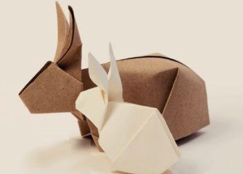 Coniglietto-origami di Pasqua. 5 idee