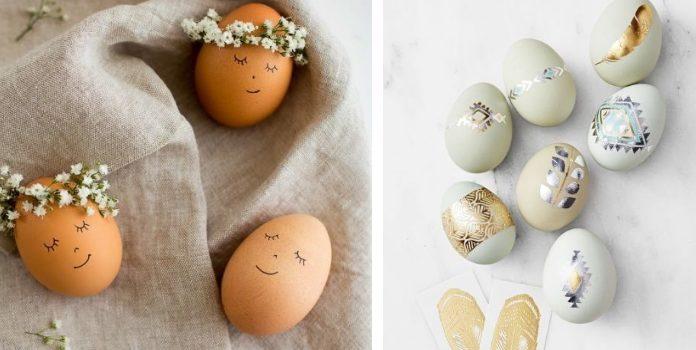 25 idee su uova di Pasqua, per le quali non è necessario immergerle nella pittura